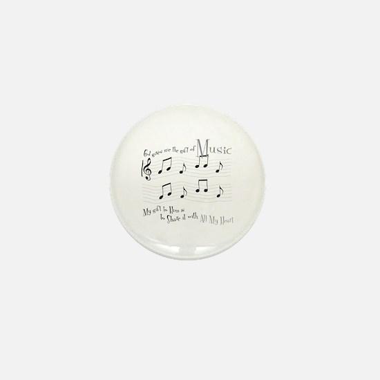 Gift of Music #1 Mini Button
