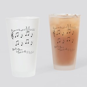 Gift of Music #1 Drinking Glass