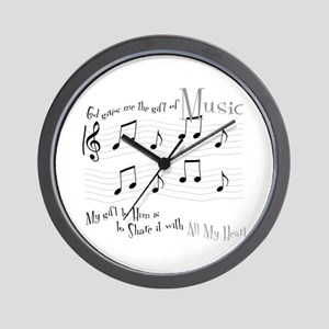 Gift of Music #1 Wall Clock