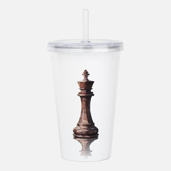 king low poly Acrylic Double-wall Tumbler