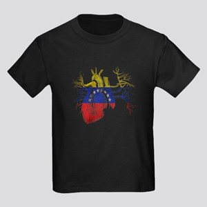 Venezuela Flag in Real heart T-Shirt