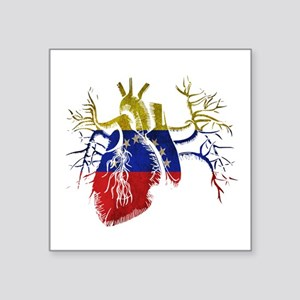 Venezuela Flag in Real heart Sticker