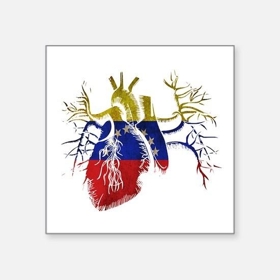 Venezuela Flag in Real heart Sticker