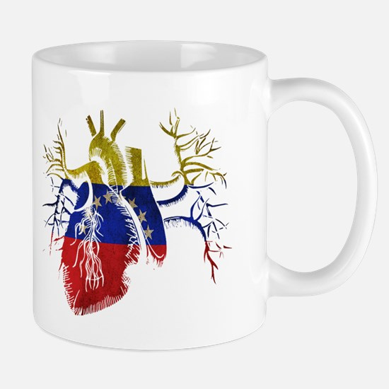 Venezuela Flag in Real heart Mug