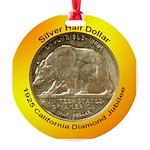 California Diamond Jubilee Coin Round Ornament