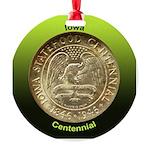 Iowa Centennial Coin Round Ornament
