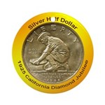 California Diamond Jubilee Coin Ornament (Round)
