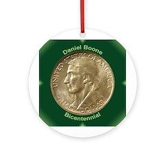 Daniel Boone Coin Ornament (Round)