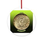 Iowa Centennial Coin Ornament (Round)