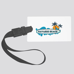 Navarre Beach - Surf Design. Large Luggage Tag