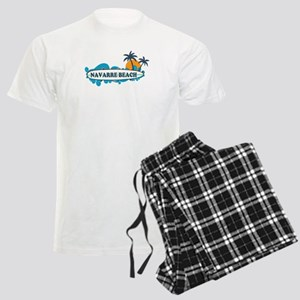 Navarre Beach - Surf Design. Men's Light Pajamas