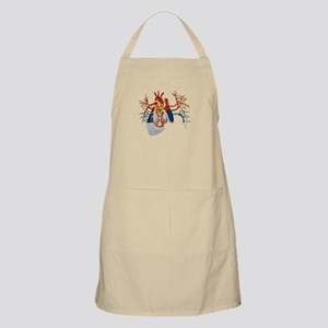 Serbia Flag in Real heart Apron