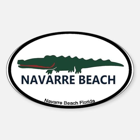 Navarre Beach - Alligator Design. Sticker (Oval)