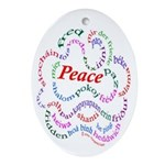 Fred-isPeace Oval Ornament
