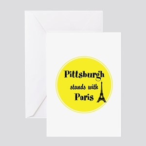 Pittsburgh stands with Paris Greeting Cards