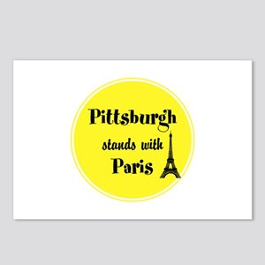 Pittsburgh stands with Paris Postcards (Package of