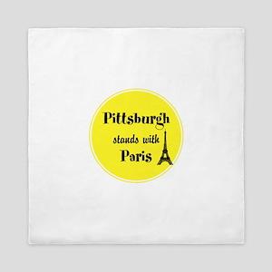 Pittsburgh stands with Paris Queen Duvet