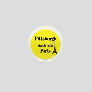 Pittsburgh stands with Paris Mini Button