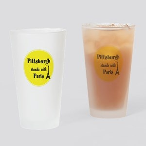 Pittsburgh stands with Paris Drinking Glass