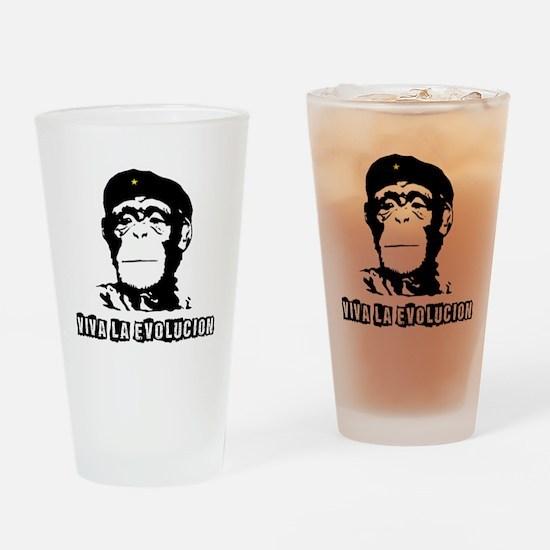 Human Evolution Drinking Glass