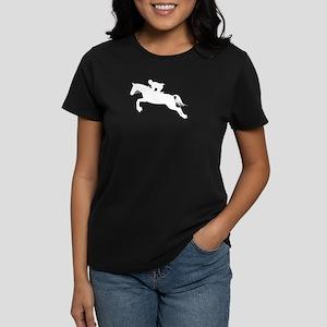 Horse Jumping Silhouette Women's Dark T-Shirt