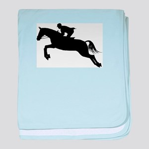 Horse Jumping Silhouette baby blanket