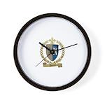 POTTIER Family Crest Wall Clock