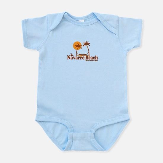 Navarre Beach - Palm Trees Design. Infant Bodysuit