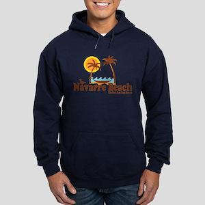 Navarre Beach - Palm Trees Design. Hoodie (dark)