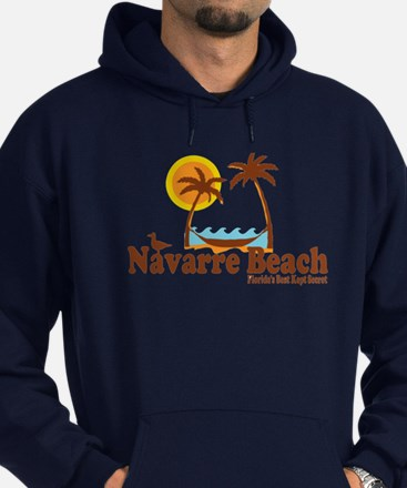 Navarre Beach - Palm Trees Design. Hoodie (dark)