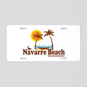 Navarre Beach - Palm Trees Design. Aluminum Licens