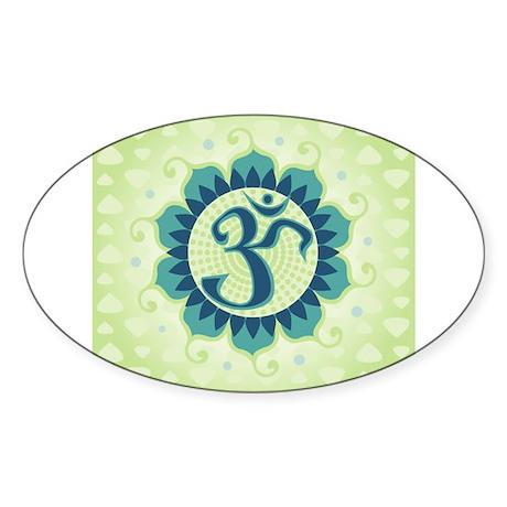 Lotus Aum Green Sticker