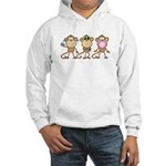 Hear See Speak No Evil Monkey Hooded Sweatshirt