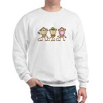 Hear See Speak No Evil Monkey Sweatshirt