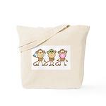 Hear See Speak No Evil Monkey Tote Bag