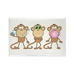 Hear See Speak No Evil Monkey Rectangle Magnet