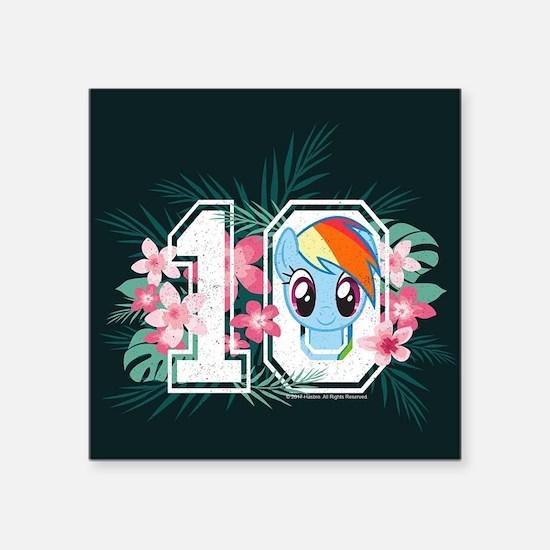 "My Little Pony Athletic Square Sticker 3"" x 3"""