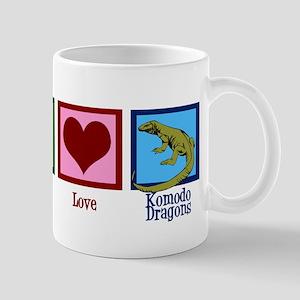 Peace Love Komodo Dragons Mug