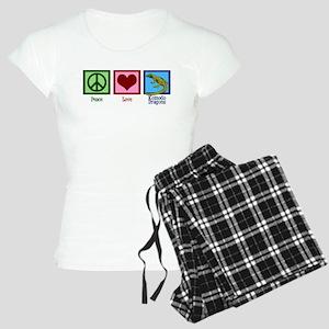 Peace Love Komodo Dragons Women's Light Pajamas