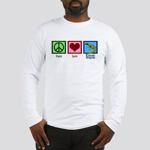 Peace Love Komodo Dragons Long Sleeve T-Shirt