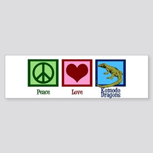 Peace Love Komodo Dragons Sticker (Bumper)