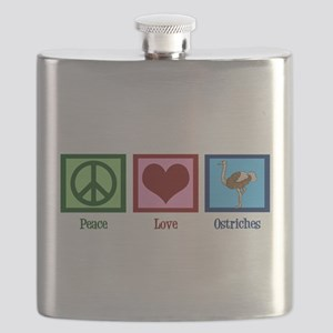 Peace Love Ostriches Flask