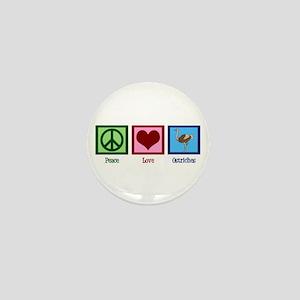 Peace Love Ostriches Mini Button