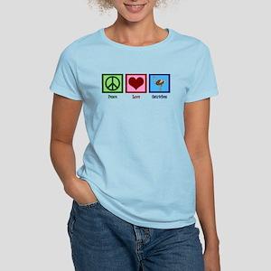 Peace Love Ostriches Women's Light T-Shirt