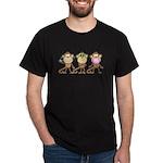 Hear See Speak No Evil Monkey Dark T-Shirt