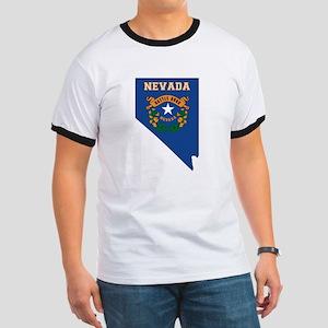 Nevada Flag Ringer T