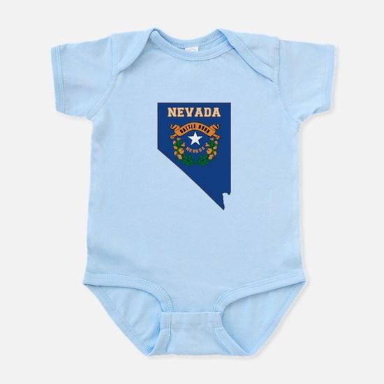 Nevada Flag Infant Bodysuit