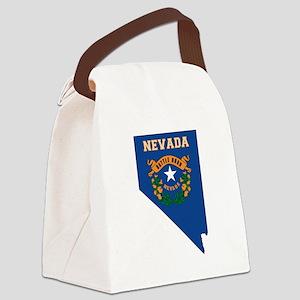 Nevada Flag Canvas Lunch Bag