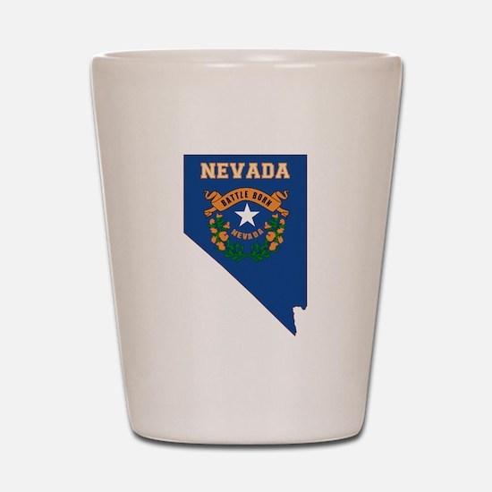 Nevada Flag Shot Glass