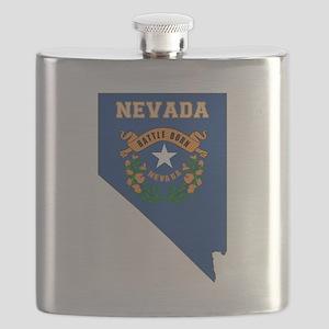 Nevada Flag Flask
